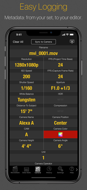 MovieSlate® 8 Screenshot