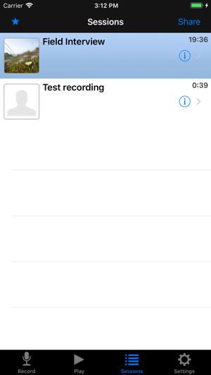 Hindenburg Field Recorder Screenshot