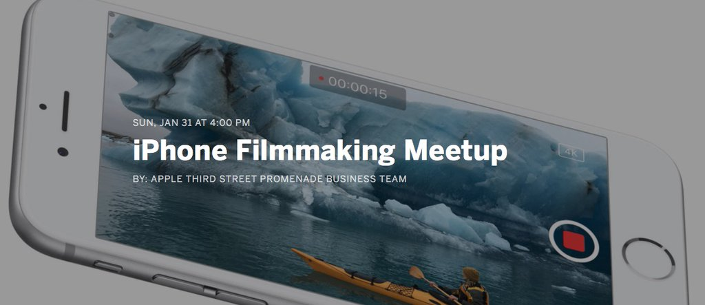 Free iPhone Filmmaking Meetup at the Apple Store!