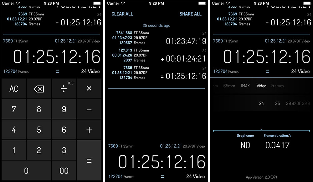 Panoptik's Timecode Calculator (Giveaway!)